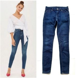 Topshop Moto Mid Rise Skinny Stretch Ankle Jeans